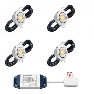 Cree LED inbouwspot Toledo bas | kantelbaar | warmwit | set van 4, 6, 8, 10 of 12 stuks LIBS2020