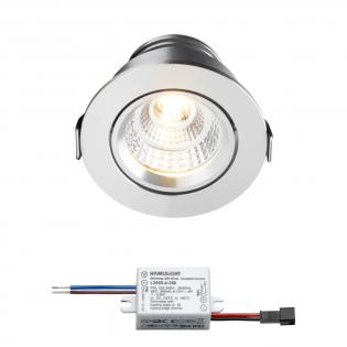 Sharp LED inbouwspot Granada | warmwit | 4 watt | dimbaar | kantelbaar L2163