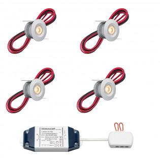 Cree LED inbouwspot Madrid bas | warmwit | set van 4, 6, 8, 10 of 12 stuks L2224