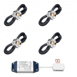 Cree LED inbouwspot Marbella bas | warmwit | set van 4, 6, 8, 10 of 12 stuks L2236