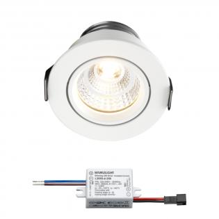 Sharp LED inbouwspot Granada | wit | warmwit | 4 watt | dimbaar | kantelbaar L2164