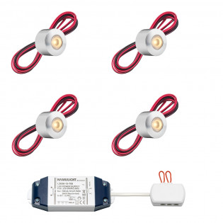 Cree LED opbouwspot Gomera bas | warmwit | set van 4, 6, 8, 10 of 12 stuks L2218