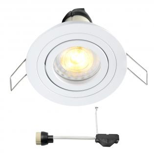 Coblux LED inbouwspot | wit | warmwit | 5 watt | dimbaar | kantelbaar L2067