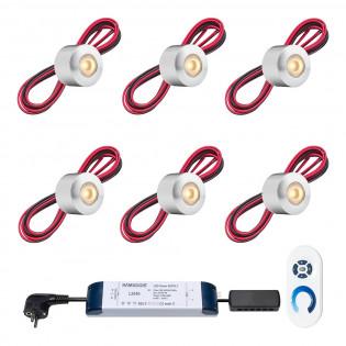Cree LED veranda opbouwspot Gomera ab | warmwit | set van 6, 8, 10 of 12 stuks LOV1020-06
