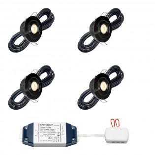 Cree LED inbouwspot Toledo zwart bas | kantelbaar | warmwit | set van 4, 6, 8, 10 of 12 stuks L2240