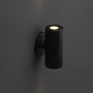 Cree LED wandlamp Amadora   zwart   warmwit   rond   2 x 1,5 watt   up & down  L2210