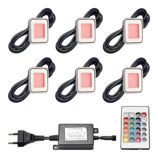 Epistar LED grondspots Horta | RGB | set van 6 stuks LVS802-06