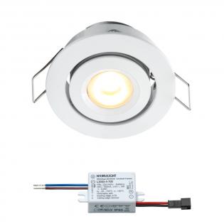 Creelux LED inbouwspot | wit | warmwit | 3 watt | dimbaar | kantelbaar L2059