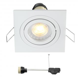 Coblux LED inbouwspot | wit | vierkant | warmwit | 5 watt | dimbaar | kantelbaar L2068