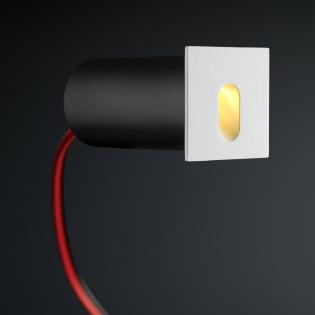 Cree LED trapverlichting Gerona | wit | vierkant | warmwit | 1 watt L2246