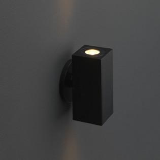 Cree LED wandlamp Lamego   zwart    warmwit   vierkant   2 x 1,5 watt   up & down  L2211
