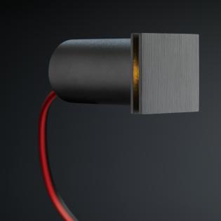 Cree LED trapverlichting Hernani | zwart | vierkant | warmwit | 1 watt L2174